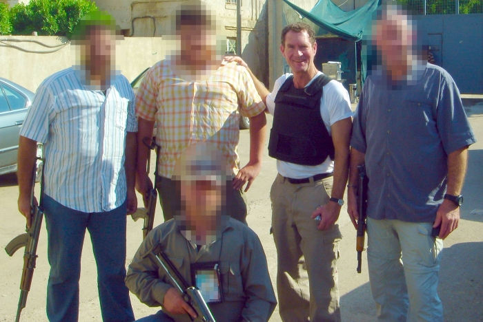 Terry Gould in Iraq, at work on Marked for Death